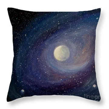 Solar Wind Throw Pillow by Fred Wilson