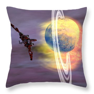 Solar Winds Throw Pillow by Corey Ford
