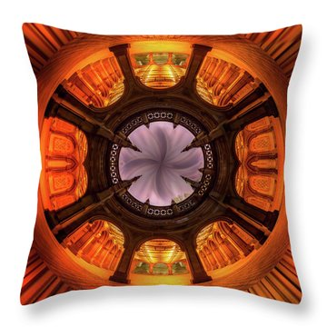 Solar Worship Throw Pillow