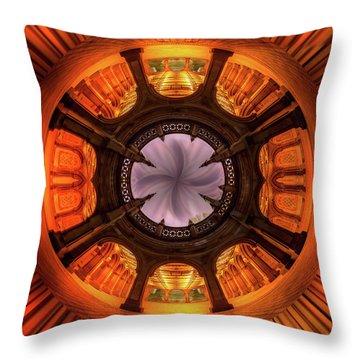 Solar Worship Throw Pillow by Az Jackson