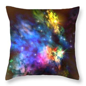 Solaris Nebula Throw Pillow by Corey Ford