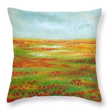 Throw Pillow featuring the painting Solarized by Angeles M Pomata