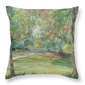 Sold River Nature Trails Throw Pillow