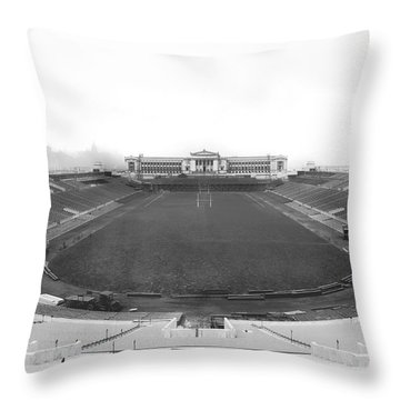 Soldier Field In Chicago Throw Pillow