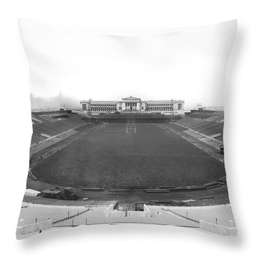 Soldier Field In Chicago Throw Pillow by Underwood Archives