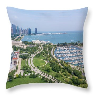 Soldier Field Panorama Throw Pillow
