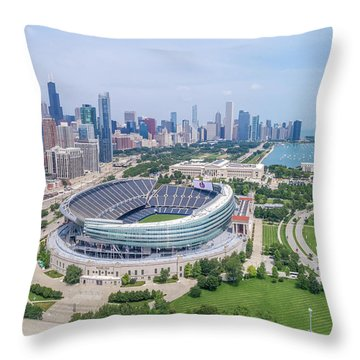 Throw Pillow featuring the photograph Soldier Field by Sebastian Musial