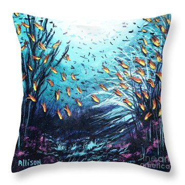Soldier Fish And Coral  Throw Pillow