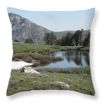 Soldier Lake And Peak Throw Pillow