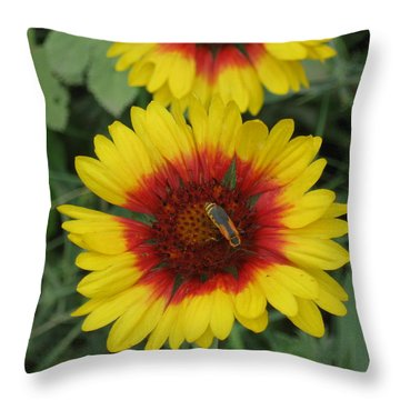 Soldier On Fire Throw Pillow