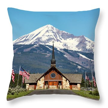 Soldiers Chapel Throw Pillow