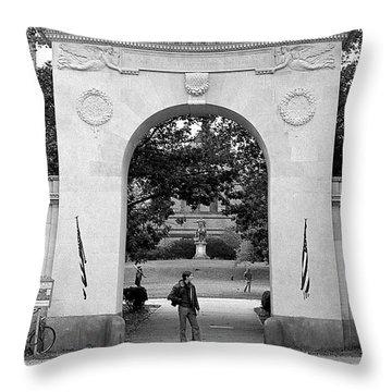 Soldiers Memorial Gate, Brown University, 1972 Throw Pillow