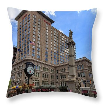 Soldiers Monument In Penn Square In Lancaster Pa Throw Pillow