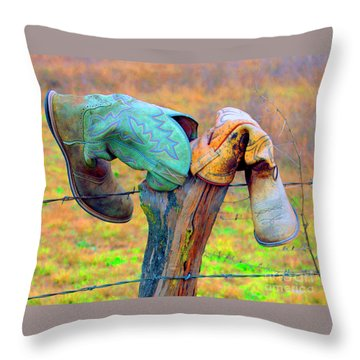 Throw Pillow featuring the photograph Sole Mates by Joe Jake Pratt