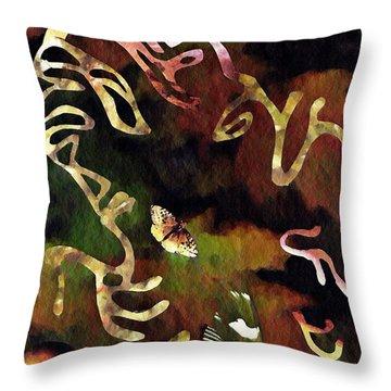 Solemn Wing Dance Throw Pillow by Sarah Loft