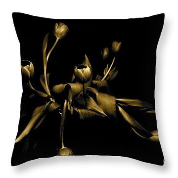 Throw Pillow featuring the photograph Solid Gold by Danica Radman