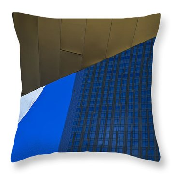 Solid Gold Throw Pillow by Skip Hunt