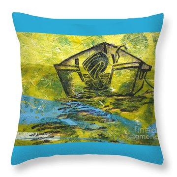 Solitaire Throw Pillow by Cynthia Lagoudakis