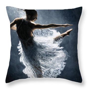 Solitaire Throw Pillow by Richard Young