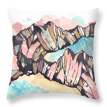 Solitary Beach Throw Pillow