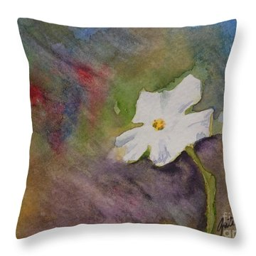 Solitary Flower Throw Pillow by Gretchen Bjornson