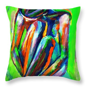 Solitary Figure Throw Pillow