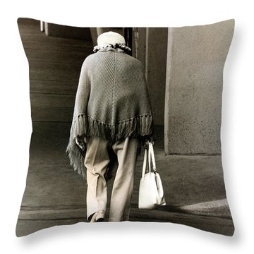 Solitary Lady Throw Pillow