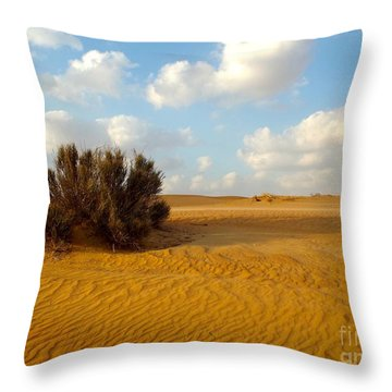 Solitary Shrub Throw Pillow