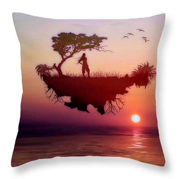 Solitary Sister Throw Pillow