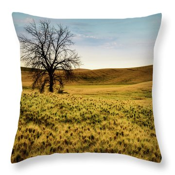 Solitary Tree Throw Pillow by Chris McKenna