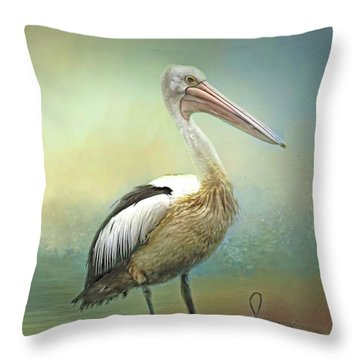 Solitary Throw Pillow by Wallaroo Images