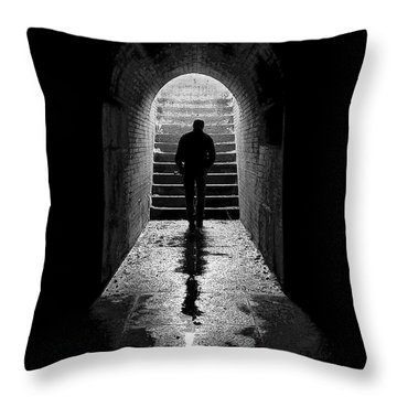 Solitude - Ascending To The Light Throw Pillow by Betty Denise
