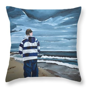 Solitude Throw Pillow by Donna Blossom