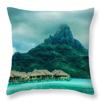 Solitude In Bora Bora Throw Pillow
