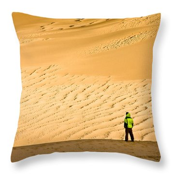 Solitude In The Dunes Throw Pillow