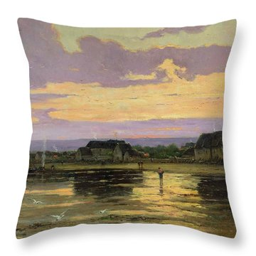 Solitude In The Evening Throw Pillow by Marie Joseph Leon Clavel Iwill