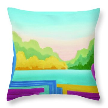 Solitude Throw Pillow by Irene Hurdle