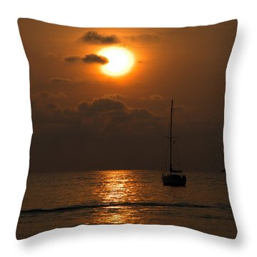 Throw Pillow featuring the photograph Solitude by Jim Walls PhotoArtist