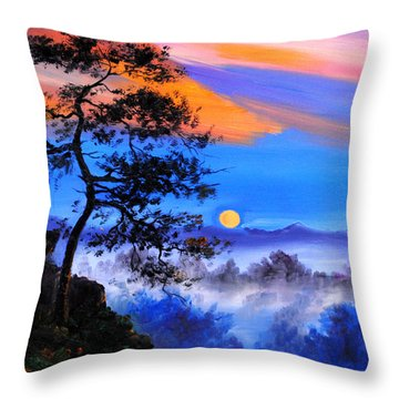 Throw Pillow featuring the painting Solitude by Karen Showell