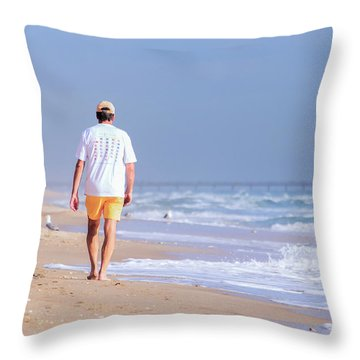Solitude Throw Pillow by Keith Armstrong