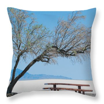 Throw Pillow featuring the photograph Solitude by Maggy Marsh