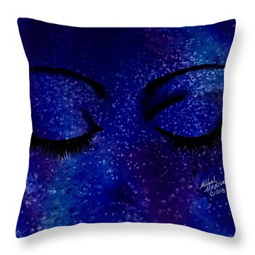 Throw Pillow featuring the painting Solitude by Michal Madison