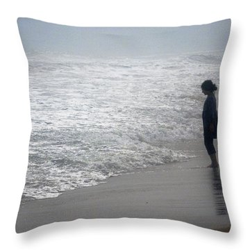 Solitude Throw Pillow by Mikki Cucuzzo