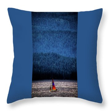 Throw Pillow featuring the photograph Solitude On Priest Lake by David Patterson