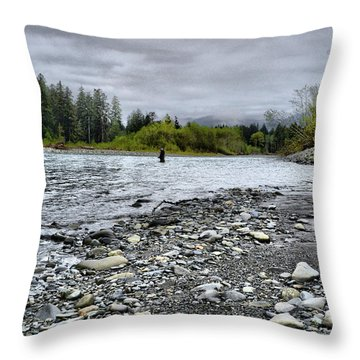 Solitude On The River Throw Pillow