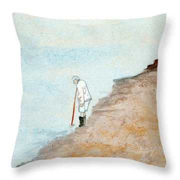 Solitude On The Shoreline Throw Pillow