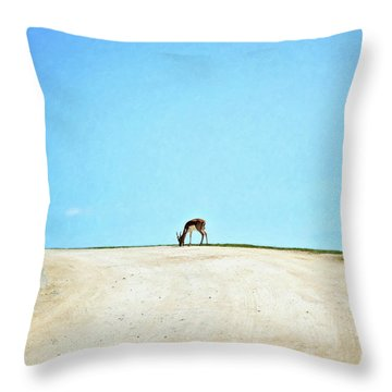 Throw Pillow featuring the digital art Solitude by Sue Collura