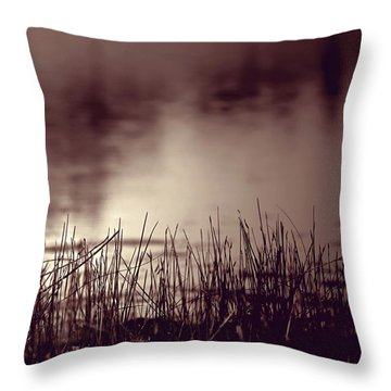 Throw Pillow featuring the photograph Solitude by Trish Mistric
