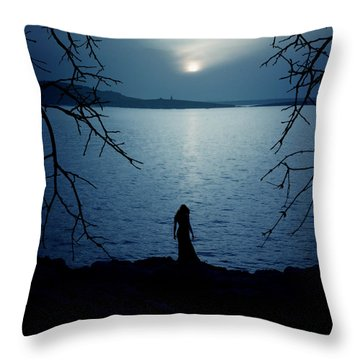 Solitude Throw Pillow by Cambion Art