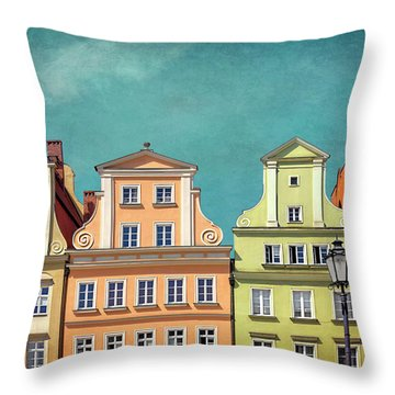 Solny Square Wroclaw Poland Throw Pillow